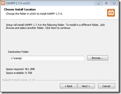 xampp-choose install location