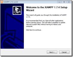 xampp-welcome screen